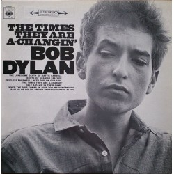 Bob Dylan - The Times They Are A-Changin' - LP Vinyl Album 1967 - Folk Rock Music