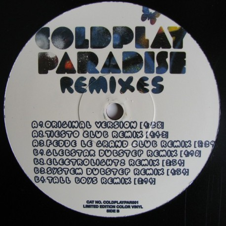 Coldplay ‎– Paradise Remixes - Maxi Vinyl Limited Edition