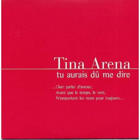 Tina Arena – Tu Aurais Dû Me Dire - CD Single Promo