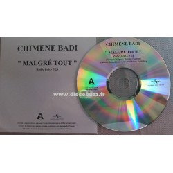 Chimène Badi - Malgré Tout - CD Single Promo