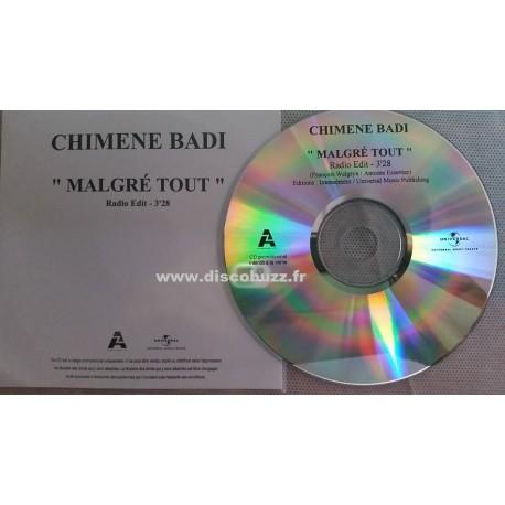 Chimène Badi - Malgré Tout - CD Single Promo