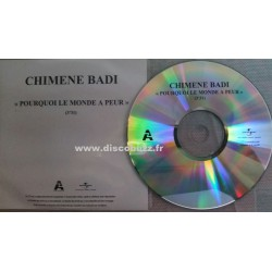 Chimène Badi - Pourquoi Le Monde A Peur - CD Single Promo
