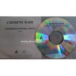 Chimène Badi - Pourquoi Le Monde A Peur - CD Single Promo