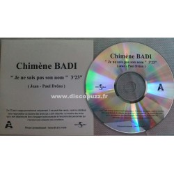 Chimène Badi - Je Ne Sais Pas Son Nom - CDr Single Promo