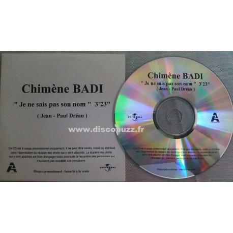 Chimène Badi - Je Ne Sais Pas Son Nom - CDr Single Promo