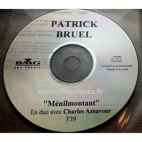 Patrick Bruel - Ménilmontant - en duo avec Charles Aznavour - CDr Single Promo