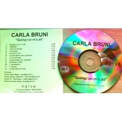 Carla Bruni – Quelqu'Un M'A Dit - CDr Album Promo