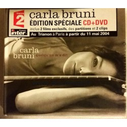Carla Bruni ‎– Quelqu'Un M'A Dit - CD Album Digipack