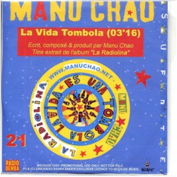 Manu Chao - La Vida Tombola - La Radiolina - CDr Single Promo