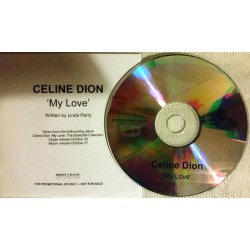 Céline Dion - My Love - CDr Single Promo