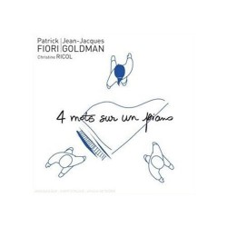 Jean Jacques Goldman & Patrick Fiori - 4 Mots Sur Un Piano - CD Single