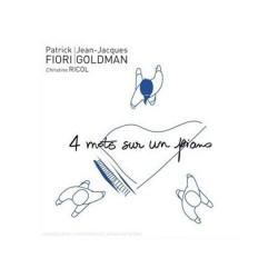 Jean Jacques Goldman & Patrick Fiori - 4 Mots Sur Un Piano - CD Single Promo