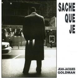 Jean Jacques Goldman -  Sache Que Je - CD Single Promo