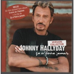 Johnny Hallyday -  Ça N'finira Jamais - CD Single Collector