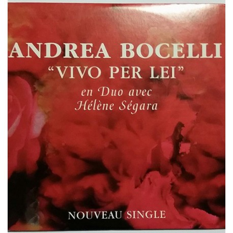 Hélène Ségara & Andrea Bocelli - Vivo Per Lei - CD Single Promo