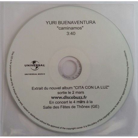 Yuri Buenaventura - Caminamos - CDr Single Promo