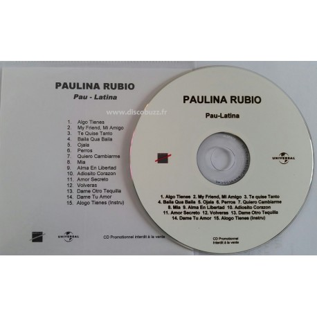 Paulina Rubio - Pau-Latina - CDr Album Promo
