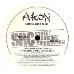 Akon ‎– Sorry, Blame It On Me - pressage USA