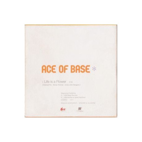Ace Of Base – Life Is A Flower - CD Single Promo