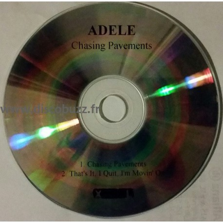 Adele - Chasing Pavements - CDr Single Promo
