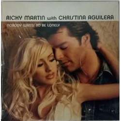 Christina Aguilera & Ricky Martin - Nobody Wants To Be Lonely - CDr Album Promo