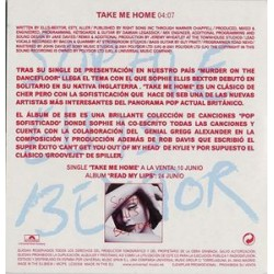 Sophie Ellis-Bextor - Take Me Home - CD Single Promo