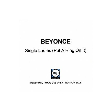 Beyonce - Single Ladies (Put A Ring On It) - CDr Single Promo