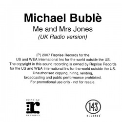 Michael Bublé ‎- Me And Mrs Jones - CDr Single Promo