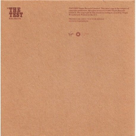 The Chemical Brothers - The Test - CD Single Promo