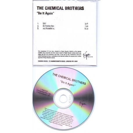 The Chemical Brothers - Do It Again - CDr Single Promo