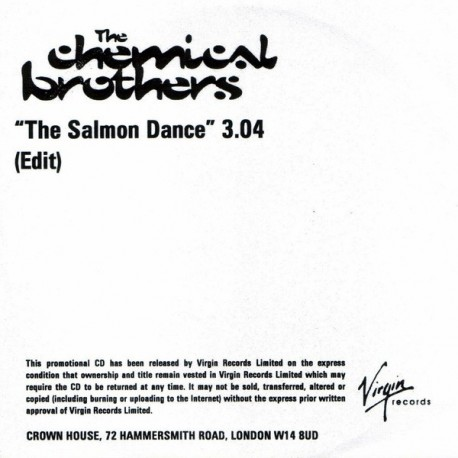 The Chemical Brothers - The Salmon Dance - CDr Single Promo