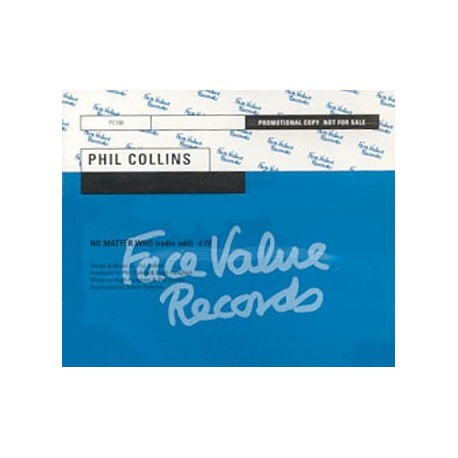 Phil Collins ‎- No Matter Who - CD Maxi Single Promo
