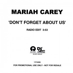 Mariah Carey ‎- Don't Forget About Us - CDr Single Promo