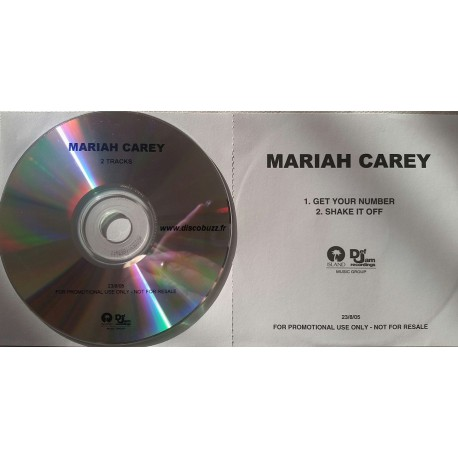 Mariah Carey ‎– Get Your Number / Shake It Off - CDr Single Promo