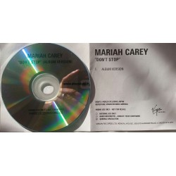 Mariah Carey ‎- Don't Stop - CDr Single Promo