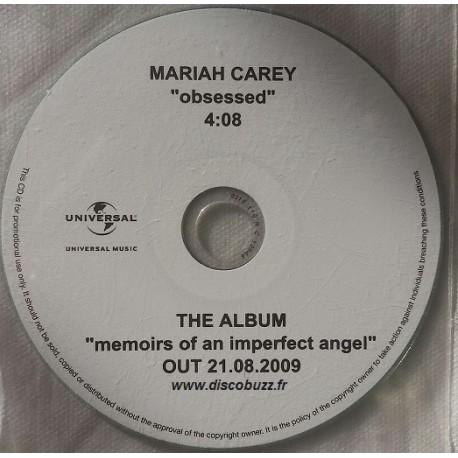 Mariah Carey ‎- Obsessed - CDr Single Promo