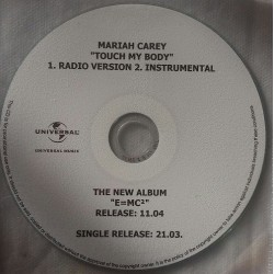 Mariah Carey ‎- Touch My Body - CDr Single Promo