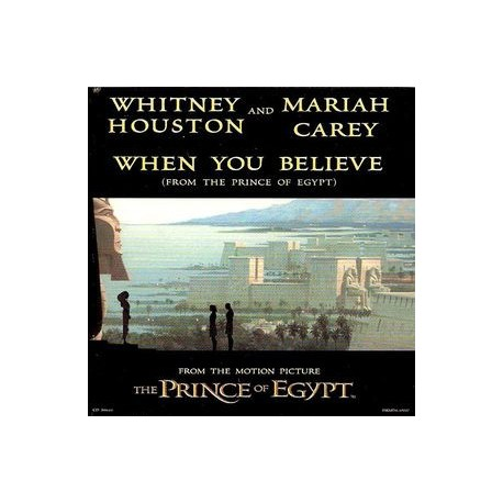 Whitney Houston & Mariah Carey ‎- When You Believe - CD Maxi Single Promo