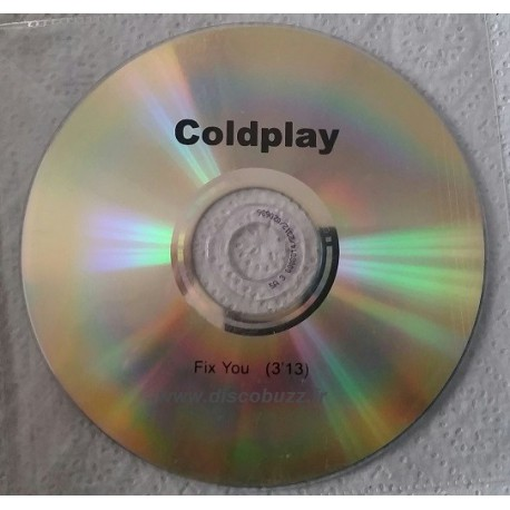 Coldplay - Fix You - CDr Single Promo