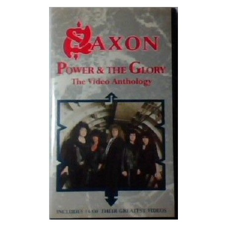Saxon ‎– Power & The Glory - The Video Anthology VHS