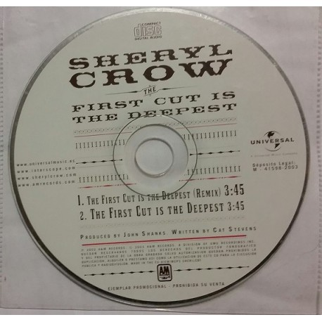 Sheryl Crow - First Cut Is The Deepest - CD Single Promo