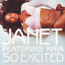 Janet Jackson featuring Khia ‎- So Excited - CD Single Promo