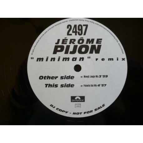 Jérôme Pijon - Miniman - Maxi Vinyl Promo