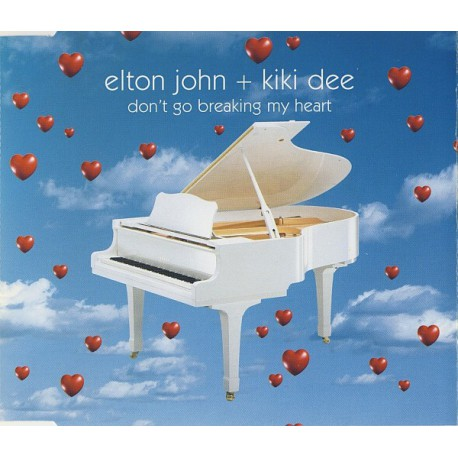 Elton John + Kiki Dee ‎- Don't Go Breaking My Heart - CD Maxi Single Promo