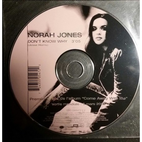 Norah Jones - Don't Know Why - CD Maxi Promo