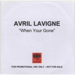 Avril Lavigne ‎- When You're Gone - CDr Single Promo