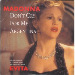 Madonna ‎- Don't Cry For Me Argentina - CD Single