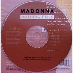Madonna ‎- Nothing Fails - CD Single