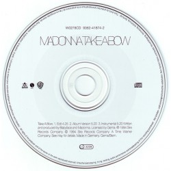 Madonna ‎- Take A Bow - CD Maxi Single