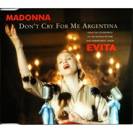 Madonna - Don't Cry For Me Argentina - CD Maxi Single